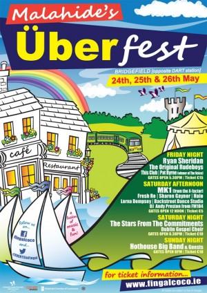 Malahide Uber Fest A6 online poster